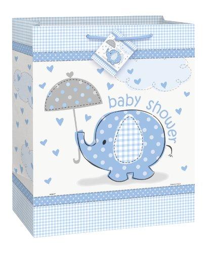 Ênico elefante Baby Shower, bolsa de regalo con la redecilla y escudo
