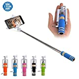 #9: Captcha Selfie Stick With Aux Cable Wired Self Portrait Monopod Holder Compatible With Apple & Android Phones(No Bluetooth & Charging Required) For All Android & Iphone Smartphones (One Year Warranty, Assorted Colour)