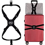 Cinghia per bagagli Cintura elastica regolabile alta ZINZ con fibbie - Nero