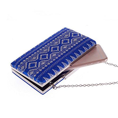 Eysee , Damen Clutch blau champagnerfarben 20cm*11cm*3.5cm blau
