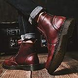 ODRD Schuhe Herren Retro Schuhe mit Niedrigem Absatz Mode Herren mit runden Kopf rutschfesten Schnürern Wanderstiefel Hallenschuhe Worker Boots Laufschuhe Sportschuhe Wanderschuhe