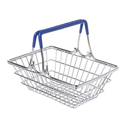 LyGuy Mini-Trolley-Spielzeug-Supermarkt-Gebrauchswagen-Lagerung, die Warenkorb-Korb faltet Trolley-Spielzeug Geschenk für Kinder Hot Pink (Warenkorb-geschenk-korb)