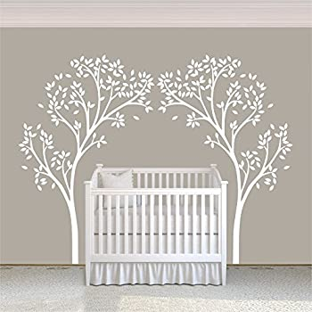 Vinyl Nursery Tree Decal Tree Canopy Portal Wall Sticker Tree Wall Graphic  Wall Mural Home Art Decor White Part 58