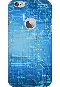 amez printed back case cover designer back cover hard case cover primium case cover for iphone 6 (with logo Hole) (Brainstorming abstract)