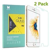 MOUKOU Vetro Temperato iPhone 6/6S Pellicola Protettiva 2 PACK in Vetro Temperato Screen Protector Film Ultra Resistente