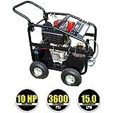 Kiam KM3600DX 10hp Industrial Diesel Pressure Washer (3600PSI @ 15 Ltr/Min) High Jet Power Driveway Patio Car Block Paving Cleaner