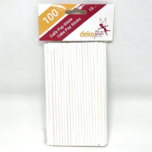 dekofee Cake Pop Sticks 15cm (Papier, 100 Stück) Stick Pop