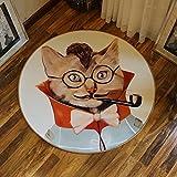 CKH Persönlichkeit Tier Runde Teppich Wohnzimmer Couchtisch Schlafzimmer Kinder Bettdecke Computer Stuhl Kissen Bodenmatte Durchmesser 120 cm