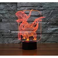 1 3D colorato di notte della luce