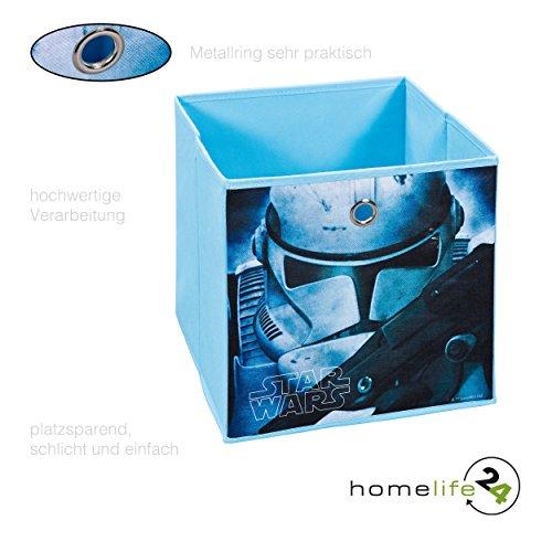 Faltbox Walt Disney Star Wars First Order Stormtrooper - ist die ideale Aufbewahrungsbox Regalbox für das Kinderzimmer oder Spielzimmer in Blau - Perfekt für jeden Star Wars Fan