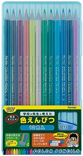 Rey kann Fujii 12Farben der EMPFEHLUNG, Buntstifte, Teacher blau re711