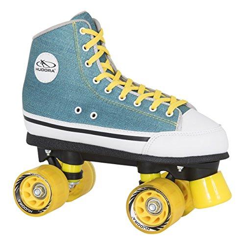 HUDORA Rollschuhe Roller-Skates Green Denim, Disco-Roller, Gr. 40, 13034