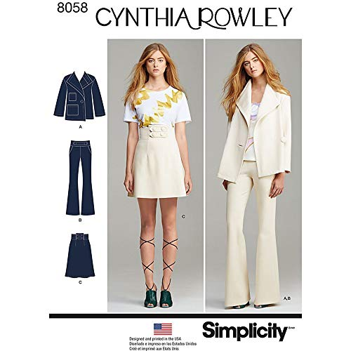 Simplicity 8058d5Schnittmuster Anzug Trennt Cynthia Rowley Kollektion Schnittmuster, Papier