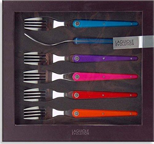 TB 449230 Laguiole Evolution Sens Ensemble de 6 fourchettes de table Multicolore