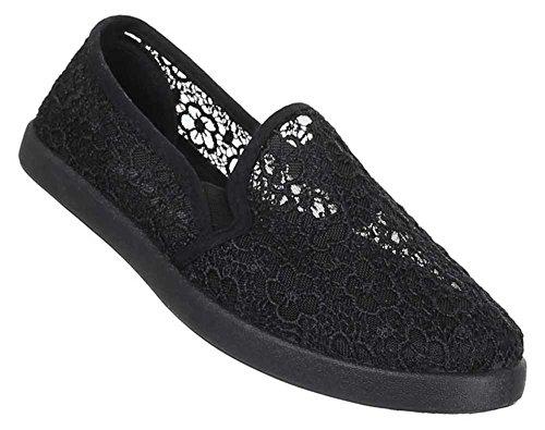 Stretch Sapatos De Verão Deslizamento Plana Chinelo Das Mulheres Apontou Sapatos Casuais Preto