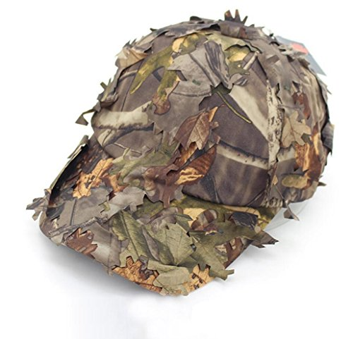 7c0e93036c70d SUNRIS 3D Leaves Baseball Hats Jungle Woodland Camo Cecchini per Uomini  Airsoft Tactical Hunting Sunshade
