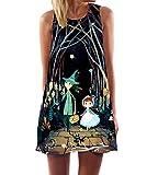 365-Shopping Damen Frauen Sommer Ärmellos Chiffon Kleider Sommerkleid Strandkleid Lose Minikleid Partykleider Top