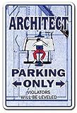 architetto Sign parking Signs Blueprint Architecture designer   indoor/outdoor   Altezza 30,5cm