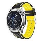 Altsommer 22mm für Samsung Gear S3 ClassicSport Silikon Armband Uhrenarmband Uhrenband mit Schnellverschluss, Erstatzband Replacement Magnet Uhr Band Strap Uhrenarmband (B)