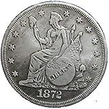 LingDong Morgan Argent Dollars-1872pièce de Monnaie Collecting-Silver Dollar USA Vieux Original Pre Morgan Dollar Perfectshop...