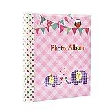 Gran bebé autoadhesivo 20/hojas, 40/lados–Álbum de fotos infantil de elefante–ideal regalo rosa rosa