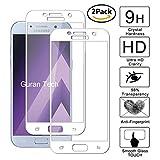 Guran [2 Paquete] Protector de Pantalla para Samsung Galaxy A5 2017 A520F [Full Coverage] Vidrio Cristal Templado 100% Cobertura Completa Film - Blanco