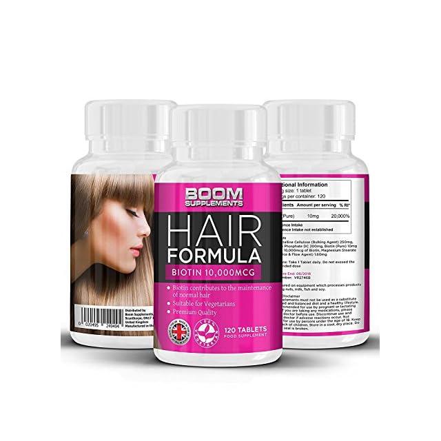 Biotine Cheveux Growth Vitamins 10,000mcg   # 1 comprimés de croissance capillaire   Max Hair Biotin Hair Products   120 comprimés d'épaississants de cheveux naturels   Fourniture complète de 4 mois   Aide à cultiver des cheveux pour les femmes   Atteindre les cheveux plus épais et plus complets FAST   Sûr et efficace   Best Selling Hair Growth Pills   Fabriqué au Royaume-Uni!   Résultats garantis   Garantie de remboursement de 30 jours