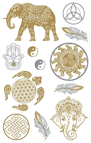 AVERY Zweckform 55659 Metallic Sticker Kraft 11 Aufkleber - Metallic-sticker
