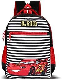 Priority Titan HD Cars Black & Red Casual Backpack|Kid's School Bag