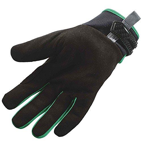 Ergodyne ProFlex 812TX robuste multifonctionnel Gants de travail avec sensible au toucher Paume de main - a la Opération un Smartphone 's noir/vert