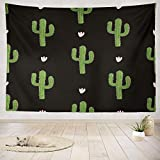 gthytjhv arazzi Decor Collection, Cactus Black Tropical Cute Art Beautiful Beauty Bloom Blossom Bedroom Living Room Dorm Wall Hanging Tapestry Polyester & Polyester Blend