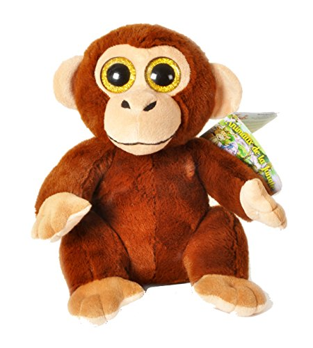 Dschungel Tiere - Plüsch braun Affe gefüllt mit hellen Augen 11