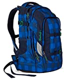 Satch Schulrucksack Pack Bluetwist 9A4 blau grau kariert