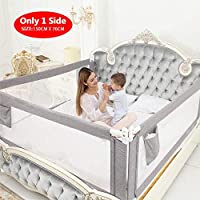 ZEHNHASE Kids Bed Rails, Vertical Lifting Bed Guard Safety Protection Guard,Anti-Fall Bed Guardrail for Toddler Baby and Children