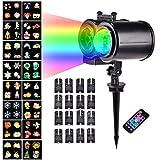 ATpart Weihnachtsprojektor Lichter LED projektionslampe, LED Projektionslampe Projektions Lampe Doppelröhren Typ Muster Ripple Lamp Filmprojektorlampe für Weihnachten Party