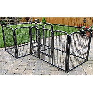 RayGar Double Heavy Duty Strong Large L105 x W70 x H70cm Pet Dog Cat Cage Pen Fence Whelping Kennel Enclosure - New RayGar Double Heavy Duty Strong Large L105 x W70 x H70cm Pet Dog Cat Cage Pen Fence Whelping Kennel Enclosure – New 51zeXptZEVL