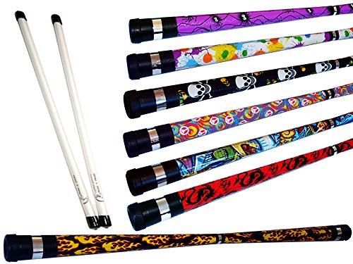 ART DECO Pro Devil Stick Set (7 Arty Designs!) Mit Silikon-Fiberglas handstäbe! Ideal für...