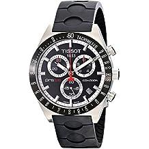 Tissot T0444172705100 - Reloj cronógrafo de caballero de cuarzo con correa de goma negra