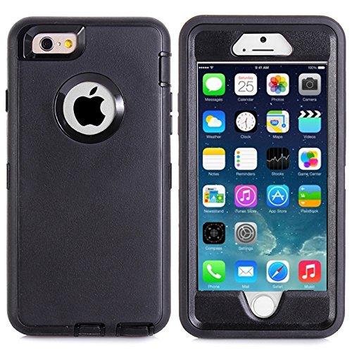 """MOONCASE iPhone 6S Coque, Realtree Camo Housse Hybride Etui Protection de Couche 3 d'Armure Lourde Rigide Anti chocs Absorption des Chocs Case avec Béquille pour Apple iPhone 6 6S 4.7"""" -Noir Grass Noir"""