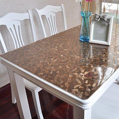 HDXBPMTischdecken PVC Anti-Verbrühung wasserdicht Anti-Frosted Boden Couchtisch Kissen weiches Glas Kunststoff Tischset , 001 , 80*140cm (Frosted Glas Couchtisch)