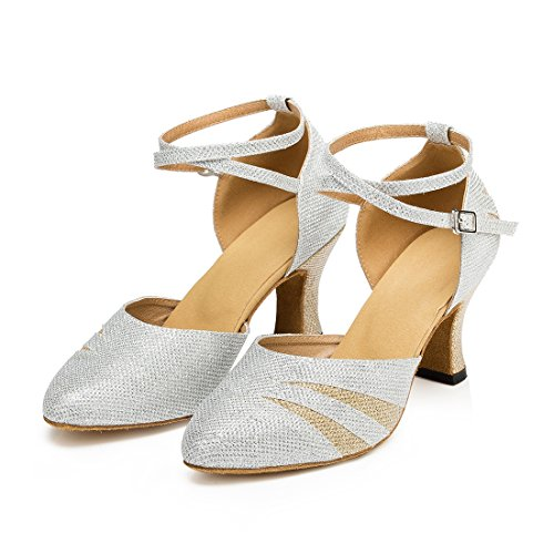 TDA ,  Damen Knöchel-Riemchen 7cm Heel Silver