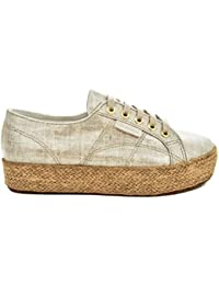 Superga 2750-Raffiau, Scarpe Low-Top Unisex-Adulto, bianca Natural, 35 EU