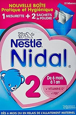 Nestlé Nidal 2 Poudre de Lait 2 Sachets de 350