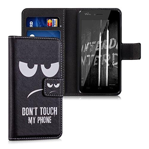 kwmobile Wiko Birdy 4G Hülle - Kunstleder Wallet Case für Wiko Birdy 4G mit Kartenfächern und Stand