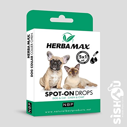 Natural Best Products herbamax Spot-On Drops/pipette cane gatto 5x 1ml
