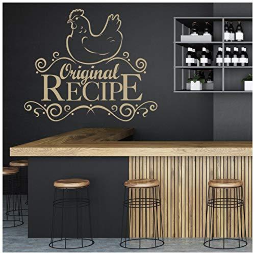 azutura ricetta originale ricetta adesivo murale cibo bevanda adesivo da parete cucina cafe home decor disponibile in 5 dimensioni e 25 colori x-grande limone giallo