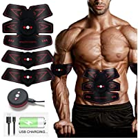 ABS Trainer Muscle Stimulator, Stomach Toner Abdominal Exerciser Slendertone ABS Workout Electric ABS Toner Stomach Toning Belt Weight Loss Equipment Home Workout Equipment, Gym Equipment At Home