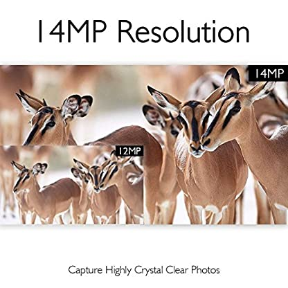 AKASO 14MP Trail Camera Night Vision 1080P Hunting Camera IP66 Waterproof Game Camera 120 Degree Wide Angle with 2.4 Inch LCD Loop Recording Surveillance Camera