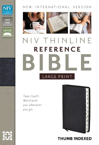 Holy Bible: New International Version, Black, Bonded Leather, Thinline Reference