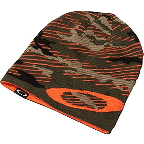 Oakley 2017 Mainline Lightweight Knitted Winter Reversible Hat Mens Cuff Golf Beanie Warning Camo One Size